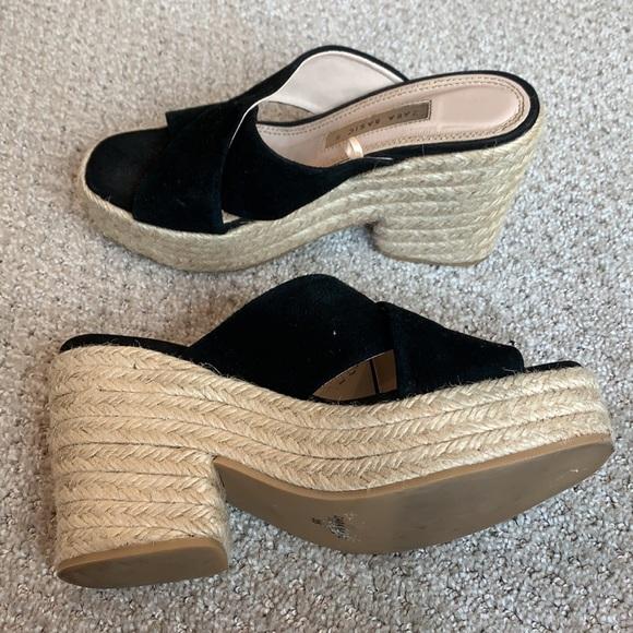 Zara Basic Braided Platform with Black Suede Strap